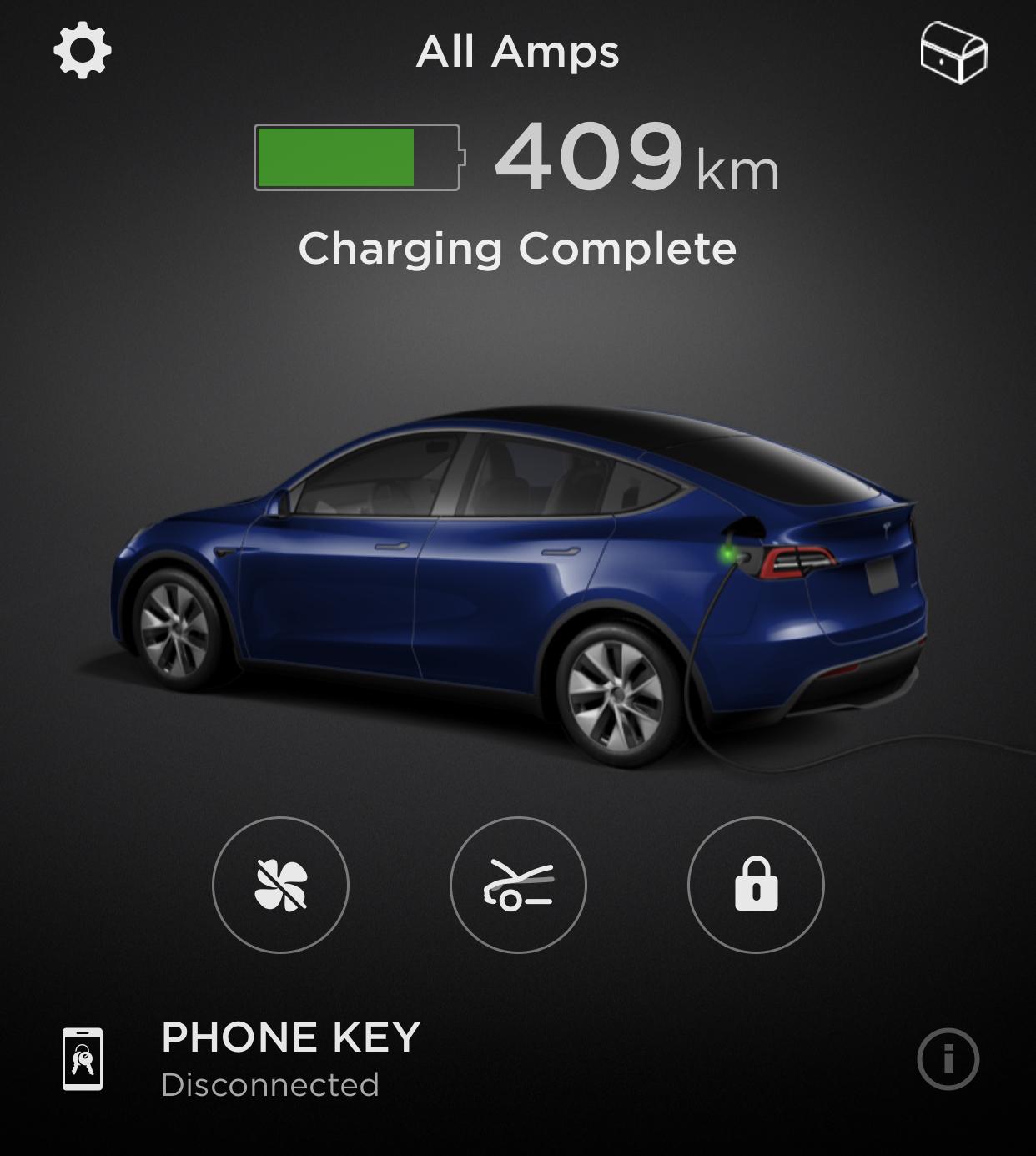Tesla App View